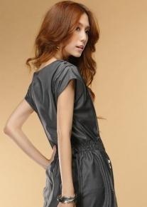 Платье с карманами на молнии