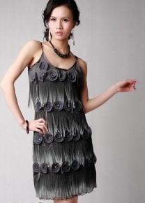 Шикарное платье с цветочками