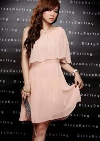 Ассиметричное шифоновое платье