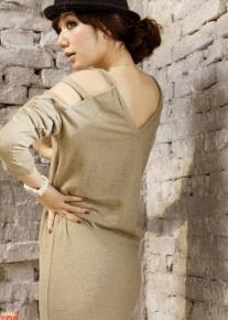 Платье с резанными рукавами