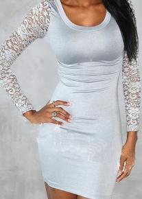 Элегантное платье с рукавами из гипюра