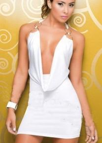 Сексуальное белое платье