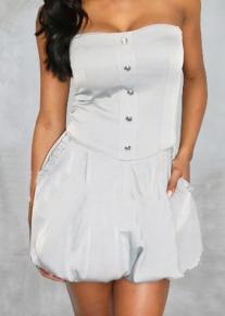 Платье-корсет с пышной юбкой