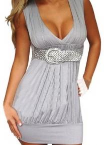 Эффектное платье - баллон с поясом - плетенкой