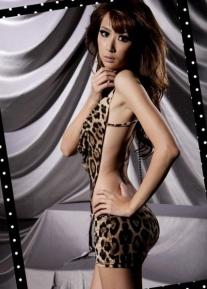 Изящный леопардовый пеньюар