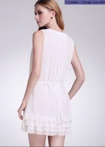Воздушное платье свободного кроя с оборками