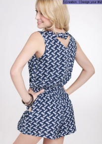 Легкое летнее текстурное платье - комбинезон