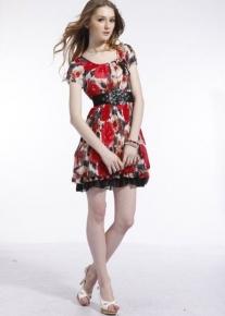 Легкое платье в цветочек