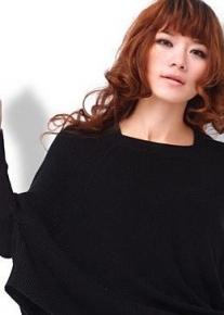 Вязанный свободный пуловер