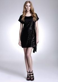 Блестящее платье с пайетками и лямкой - завязкой