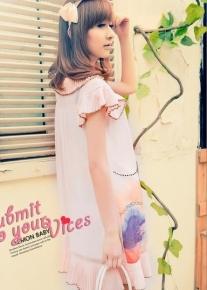 Легкое платье с плиссированной оборкой
