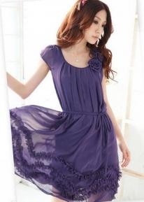 Легкое шифоновое платье с цветочками