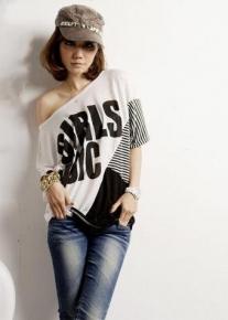 Супермодная черно-белая футболка