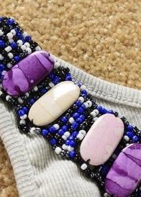 Топ с бисером и камнями