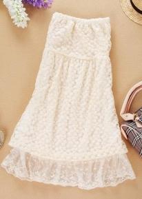 Кружевное открытое платье