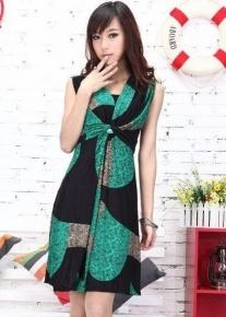 Летнее яркое шифоновое платье