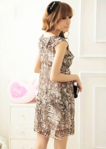 Красивое модельное шифоновое платье