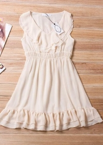 Шифоновое платье с оборками