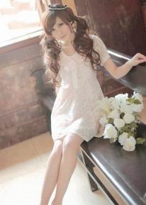 Легкое кружевное платье с бантиком
