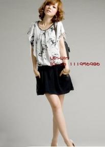 Черно-белое оригинальное платье