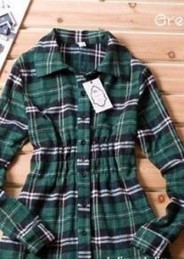 Рубашка в клеточку на резинке
