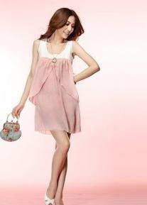 Двухцветное романтичное платье