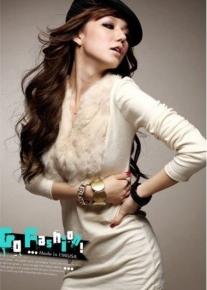 Туника-платье с меховым воротничком
