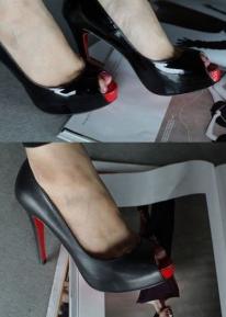 Стильные секси туфли с открытым носиком