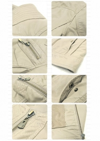 Приталенная короткая куртка с молниями