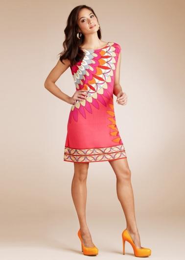 Коротенькое платье с графическими узорами Emilio Pucci