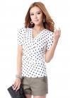 Эффектная блуза в горошек O.SA