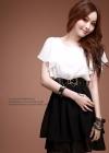 Черно-белое шифоновое платье