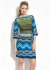 Трапециобразное платье с геометрическими узорами Emilio Pucci
