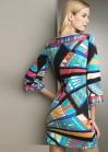 Эффектное платье с радужным орнаментом Emilio Pucci