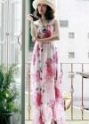 Длинный сарафан с цветами