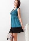Двухцветное платье с открытой спиной