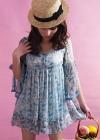 Свободное модное шифоновое платье