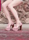 Винтажные босоножки на каблуке